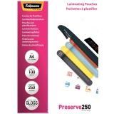 Folii laminare A4 lucioase 250 microni Preserve 100 folii/top Fellowes