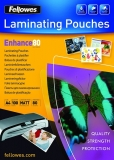 Folii laminare 80 microni Fellowes A4, mata, Enhance 100 coli/top