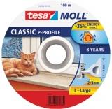 Profil etansare P 100 m x 9 mm x 5.5 mm alb Tesa