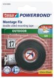 Banda adeziva Powerbond Exterior 1.5 m x 19 mm Tesa