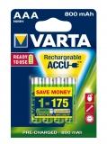 Acumulator R3 (AAA) 800 mAh 4 buc/blister VARTA