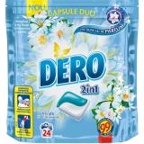 Detergent capsule Duo Iris Alb si flori de romanita 24 capsule Dero