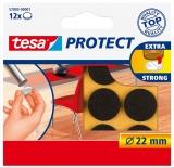 Protectii antizgarieturi 22mm maro Tesa
