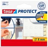 Protectii antizgomot 8 mm transparent Tesa