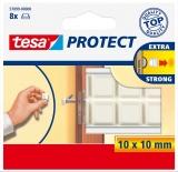 Protectii antisoc 10 x 10 mm alb 8 buc/set Tesa