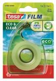 Dispenser Eco&Clear cu banda adeziva transparenta 33m x 19mm Tesa