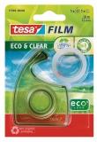 Dispenser Eco&Clear cu banda adeziva transparenta 10m x 15mm Tesa