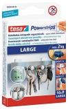 Benzi dublu adezive Powerstrips 10 bucati rezerve mari Tesa