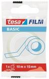 Banda adeziva transparenta Basic 10m x 15 mm Tesa