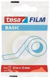 Banda adeziva Basic transparenta 33 m x 15 mm Tesa