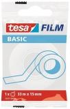 Banda adeziva Basic Invizibil transparenta 33 m x 15 mm Tesa