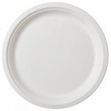 Farfurii biodegradabile rotunde, albe, 22 cm, 50 buc/set Biodeck
