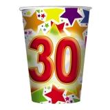 Pahare 200 ml Stardust 30, 10 buc/Set Big Party