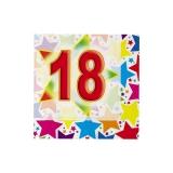 Servetele 25 x 25 cm Stardust 18, 20 buc/Set Big Party