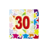 Servetele 25 x 25 cm Stardust 30, 20 buc/Set Big Party