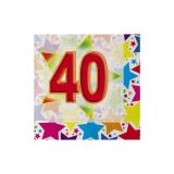 Servetele 25 x 25 cm Stardust 40, 20 buc/Set Big Party