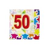 Servetele 25 x 25 cm Stardust 50, 20 buc/Set Big Party