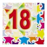 Servetele 33 x 33 cm Stardust 18, 20 buc/Set Big Party