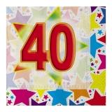 Servetele cm 33 x 33 Stardust  40 20 buc/Set Big Party