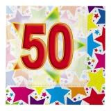 Servetele cm 33 x 33 Stardust 50 20 buc/Set Big Party