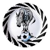Farfurii 24 cm Zebra Alb/Negru 10 buc/Set Big Party