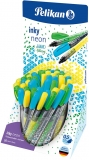 Roller Inky, 0.5 mm, diverse culori, 50 buc/set, Pelikan