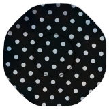 Platou Rotund 32 cm Pois Negru Big Party