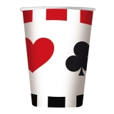 Pahare 200 ml Poker 8 buc/Set Big Party