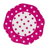 Farfurii 27 cm Pois Fuxia 5 buc/Set Big Party