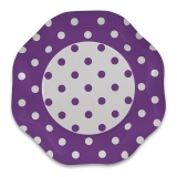 Farfurii 27 cm Pois Violet 5 buc/Set Big Party