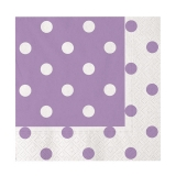 Servetele 33 x 33 cm Pois Violet 20 buc/Set Big Party