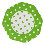 Farfurii 27 cm Pois Verde 5 buc/Set Big Party