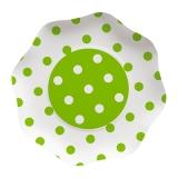 Farfurii 23 cm Pois Verde 10 buc/Set Big Party