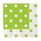 Servetele 33 x 33 cm Pois Verde 20 buc/Set Big Party