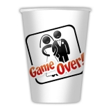 Pahare 200 ml Game Over 8 buc/Set Big Party