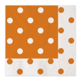 Servetele 33 x 33 cm Pois Portocaliu 20 buc/Set Big Party