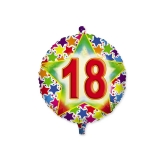 Balon Mylar Rotund 45 cm Stardust 18 Big Party