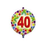 Balon Mylar Rotund 45 cm Stardust 40 Big Party