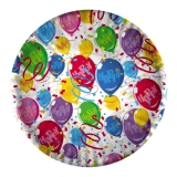 Farfurii 24 cm Baloane Happy 10 bucati/set Big Party