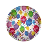 Farfurii 18 cm Baloane Happy 10 bucati/set Big Party