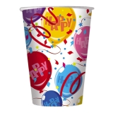 Pahare 200 ml Baloane Happy 10 bucati/set Big Party