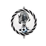 Balon Mylar Rotund 45 cm Zebra Alb/Negru Big Party