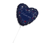 Balon Mylar Inima Albastra 25 cm Love Message Big Party