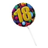 Balon  Mylar Rotund cm 25 18 Ani  Big Party