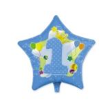 Balon Mylar in forma de Stea 45 cm Prima Aniversare Albastru Big Party