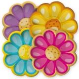 Farfurii 29 cm Mix Flori 8 buc/Set Big Party