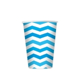 Pahare 200 ml Zig Zag Turcoaz 8 bucati/set Big Party