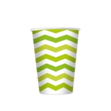 Pahare 200 ml Zig Zag Verde 8 bucati/set Big Party
