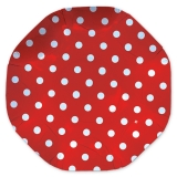 Platou Rotund 32 cm Pois Rosu Big Party