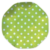 Platou Rotund 32 cm Pois Verde Big Party